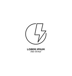 Letter o flash logo design vector