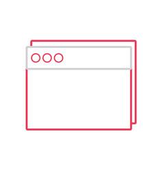 Line website internet page technology design vector