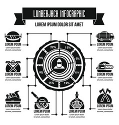 Lumberjack infographic concept simple style vector