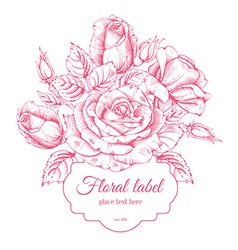 Luxury rose card vector image