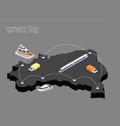 Map brazil isometric concept vector
