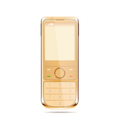 modern smart phone in yellow color vector image
