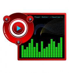 music player skin vector image