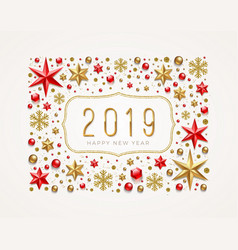 new year 2019 vector image