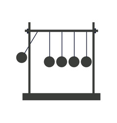 Newtons cradle momentum pendulum metal image vector