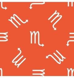 Orange Scorpio pattern vector