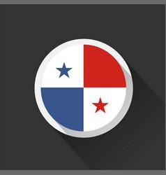panama national flag on dark background vector image