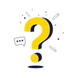 question mark web page design faq sign vector image
