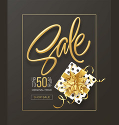 realistic metallic gold inscription sale vector image