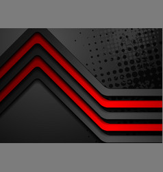 Red black stripes abstract corporate background vector