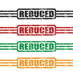 reduced stamp set vector image