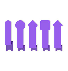 ribbon banner purple ribbons different forms vector image