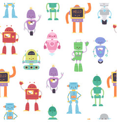 robots and transformers toys for kids seamless vector image
