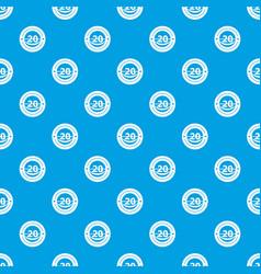 round calendar pattern seamless blue vector image