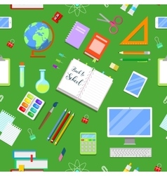 Seamless Background with Education Icons vector