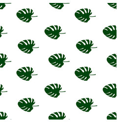 seamless pattern of leaves monstera floral vector image