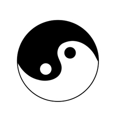 Sign yin and yang 2505 vector image