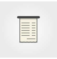 simple bank check icon vector image