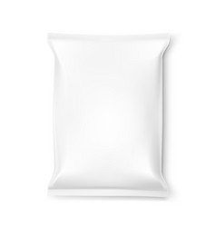 Simple clear white food snack pillow bag vector