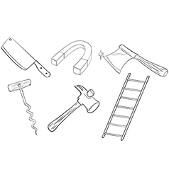Six different kinds of tools vector