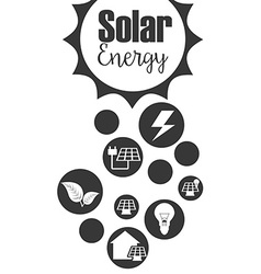 solar energy design vector image