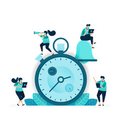 stopwatch for competition and working interval vector image