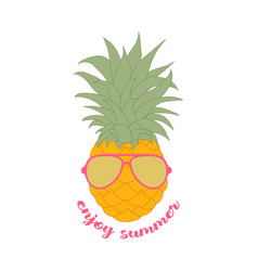 Summer banner with pineapple vector