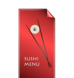sushi menu color style vector image