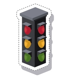 traffic light isometric icon vector image