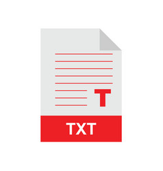 txt format file vector image