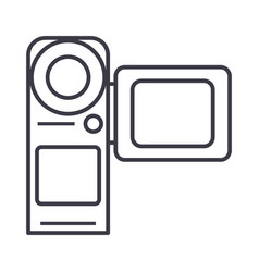 Video cameramovie making line icon sign vector