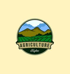 Vintage farm or agriculture logo designs vector