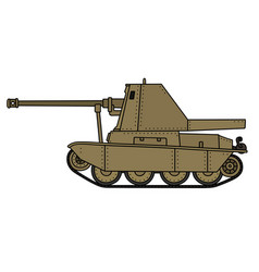 Vintage self propelled gun vector
