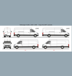 Volkswagen crafter van l3h2 and l4h2 2017-present vector