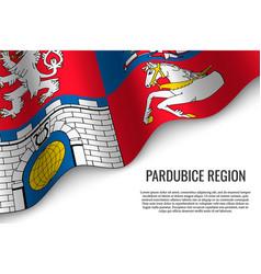 Waving flag region czech republic vector