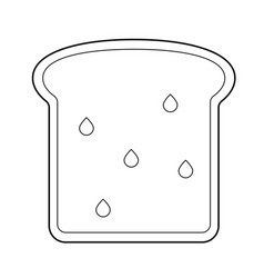 Whole wheat toast bread line icon vector