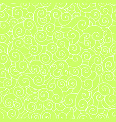 whorl doodle pattern green vector image