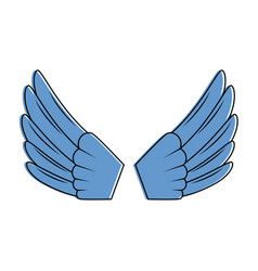 wings open isolated icon vector image