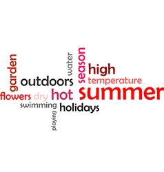 Word cloud summer vector