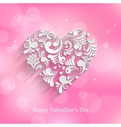 Absrtact Floral Heart Background vector image vector image