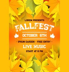 autumn harvest festival fall season banner design vector image
