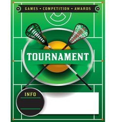 Lacrosse Tournament Blank Flyer Template vector image vector image