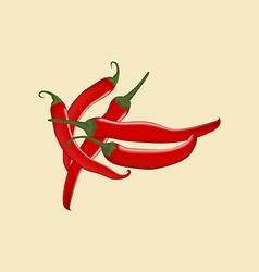 Red Chili Pepper Icon vector image