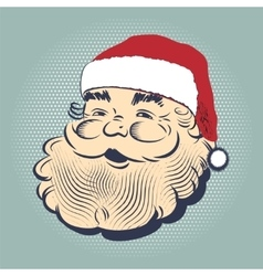 Santa Claus smiling head vector image vector image