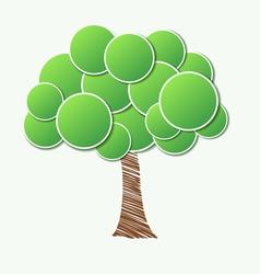 Stylish paper tree Many similarities to the author vector image