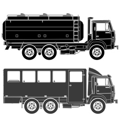 cars silhouettes set vector image vector image