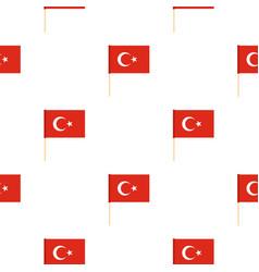 Flag of turkey pattern seamless vector