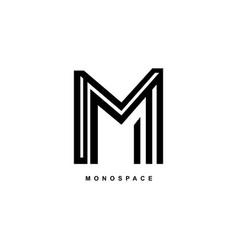 m logo simple elegant m monogram vector image