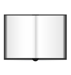 open book with white pages vector image