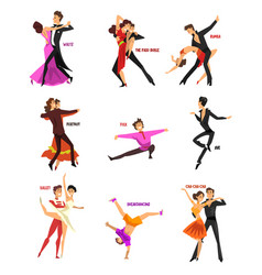 professional dancer people dancing young man and vector image vector image